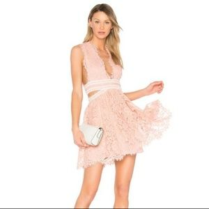 Revolve X by NBD Phoenix Lace Dress Cutout Pink